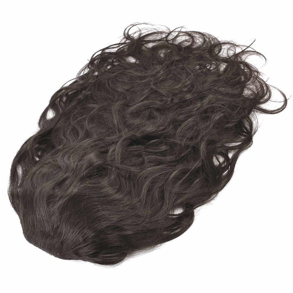 Pinza de pelo humano de cola de caballo con cordón yonyne en extensiones de cabello virgen brasileño onda del cuerpo Color Natural 1 pieza