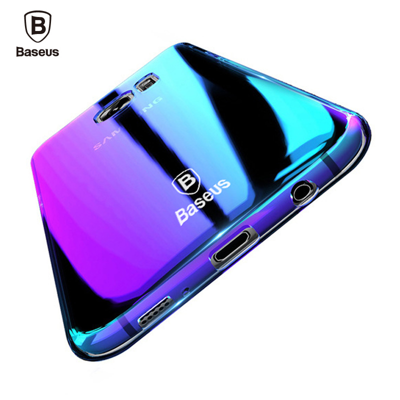 Baseus Brand Luxury Case For Samsung Galaxy S9 S9 Plus Aurora Gradient Color Hard PC Cover Case For Galaxy S9 S 9 Plus Capinhas