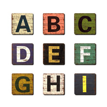 1pc 26 English Alphabet Letters Wood Craft Home Decoration Alphabet Wedding Birthday Figurines Miniatures(China)