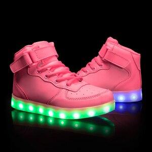 Image 4 - Größe 25 39 Kinder LED Kinder Glowing Turnschuhe mit Licht Leucht Turnschuhe für Jungen Mädchen Turnschuhe mit Licht Sohle