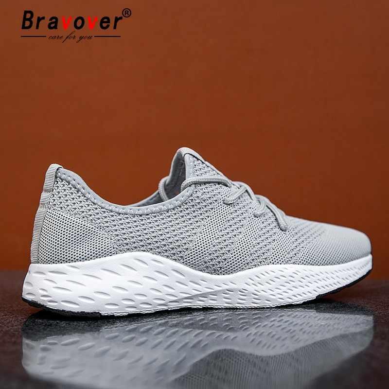 Yeni stil erkekler koşu ayakkabıları nefes hafif erkek ayakkabısı örgü rahat spor ayakkabı açık Walkng koşu Sneakers