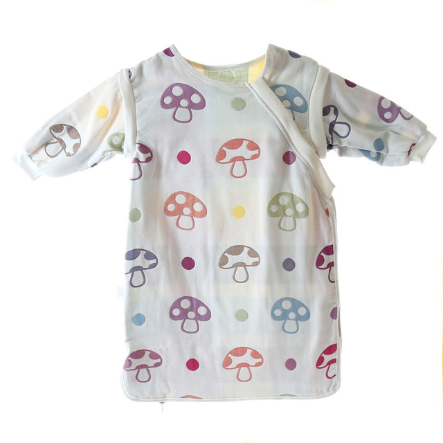 c25a7796165c Muslin Baby Sleeping Bag Kids Cotton Soft Cartoon Long Sleeve ...