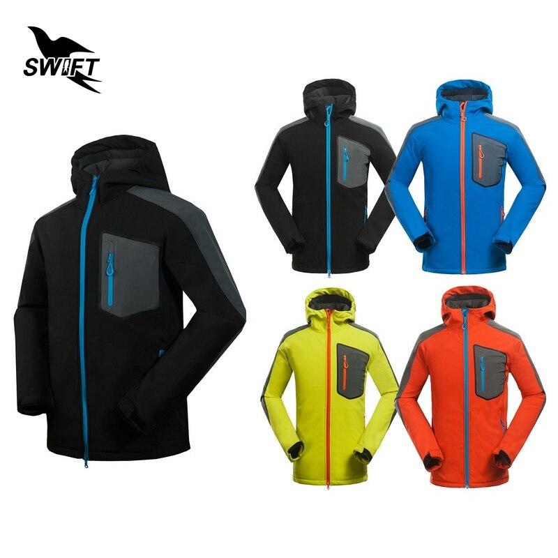 где купить New Custom Tech Fleece Softshell Jacket Men Waterproof Windstopper Climbing Mountain Hiking Clothing Outdoor Ski Fishing Clothes по лучшей цене