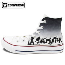 Women Men Anime Converse Chuck Taylor Boys Girls Shoes Soul Eater Design Hand Painted Shoes High Top Woman Man Sneakers