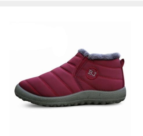 Negro Color Esquí Las 2018 Antideslizante Zapatos Mujeres azul Nuevas marrón Invierno Fondo Impermeable Sólido vino Botas Tinto Agutzm Mantener Tamaño Caliente Algodón Nieve 44 Dentro De 10qUq