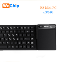 K8 мини ПК Intel Z8300 4 ядра Win10 дома x64 биты Bluetooth 4,0 HDMI VGA 2,4G 5,8G Wi Fi с сенсорная клавиатура медиа плейер