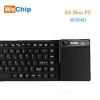 K8 мини ПК Intel Z8300 4 ядра Win10 Home x64 биты Bluetooth 4,0 HDMI VGA 2,4 г 5,8 Г Wi Fi с сенсорной панели клавиатура медиа плейер