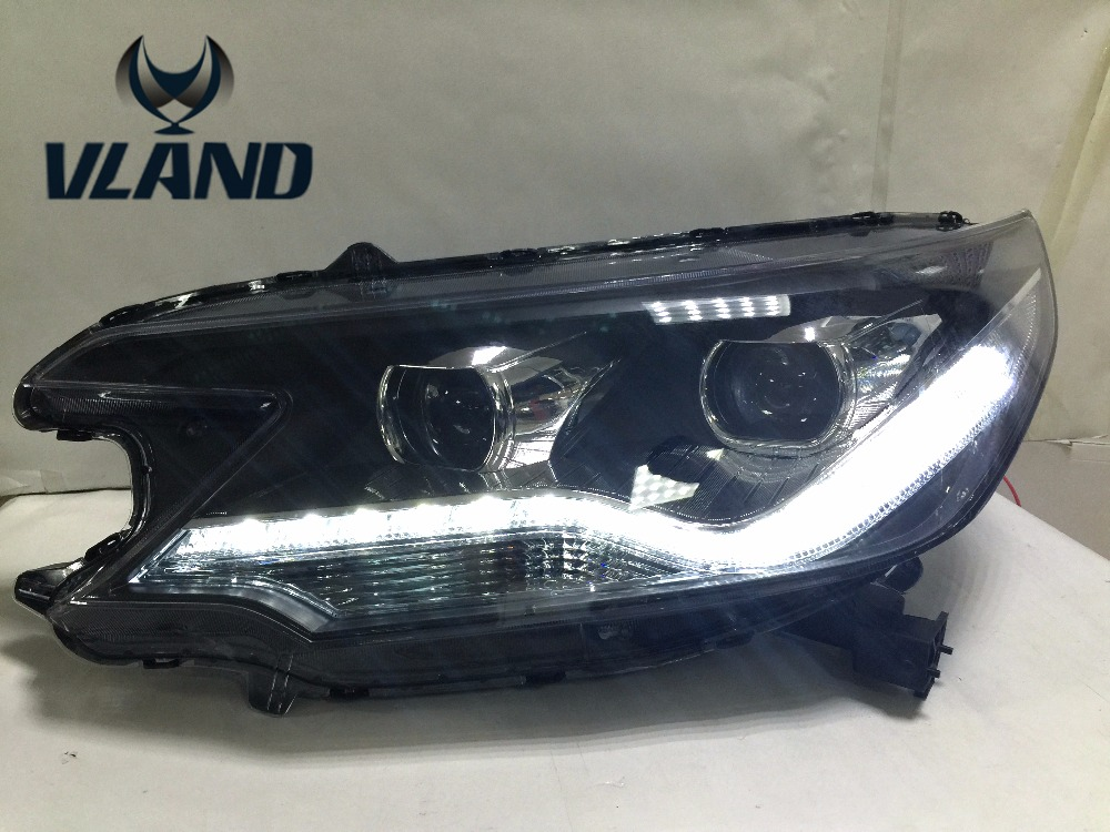 VLAND manufacturer for Car head lamp for City LED Headlight 2014 for City Head light with H7 Xenon lamp and Day light vland 2pcs car light led headlight for jetta headlight 2011 2012 2013 2014 demon eyes head lamp