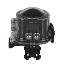 BOBLOV Panoramic X6S 16M HD 360×220 Degree Wifi Camera 2448*2448 Sport Action Camera Support VR Mode+Remote Free shipping