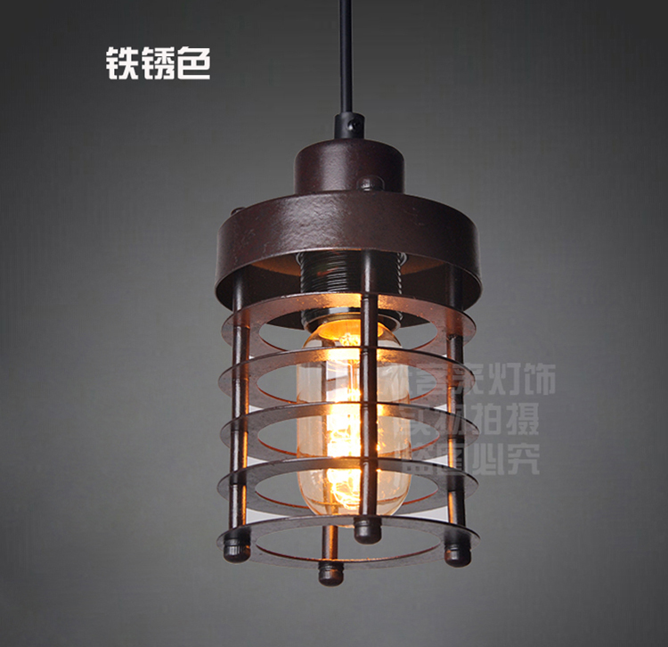 Fashion single head wrought iron vintage pendant lamps bar coffee restaurant stairs American style loft pendant light american brief fashion single head rustic wrought iron pendant light bar balcony stair lamps