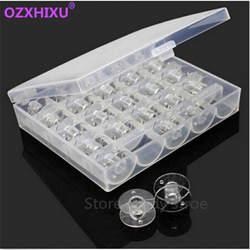 1 компл./лот ясно Пластик 25 бобин катушки для швейных машин с резьбой чехол для хранения Box для дома Швейные принадлежности пошив инструменты