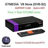 V8 Nova DVB-S2 Ricevitore TV Digitale Ricevitore TV Satellitare Decoder con Wi-Fi Built-In Full HD 1080P Supporto PVR, powerVu Biss Chiave