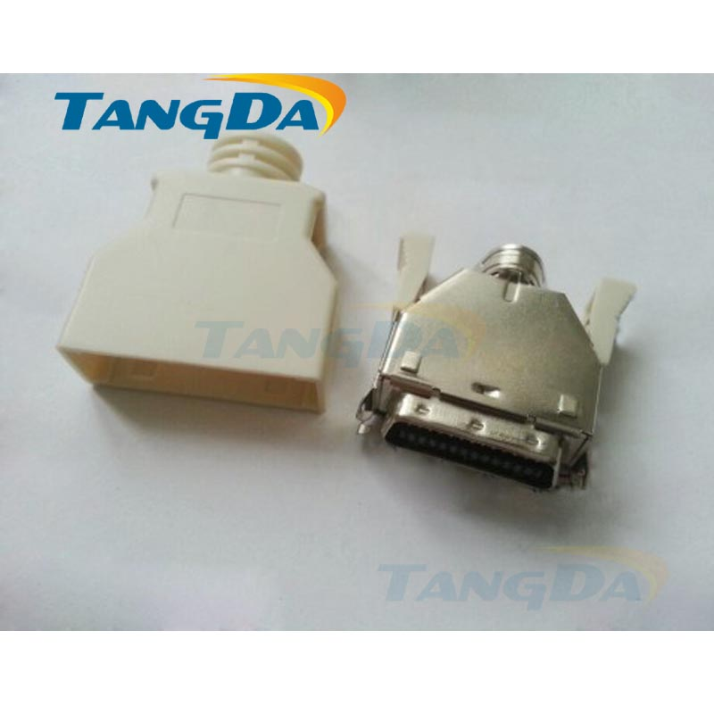 Tangda SCSI 26P 26 shrapnel 26pin welding wire male head servo drive joint slot type CN1 band MDR connector free shipping 24v dc mig welding wire feeder motor single drive 1pcs