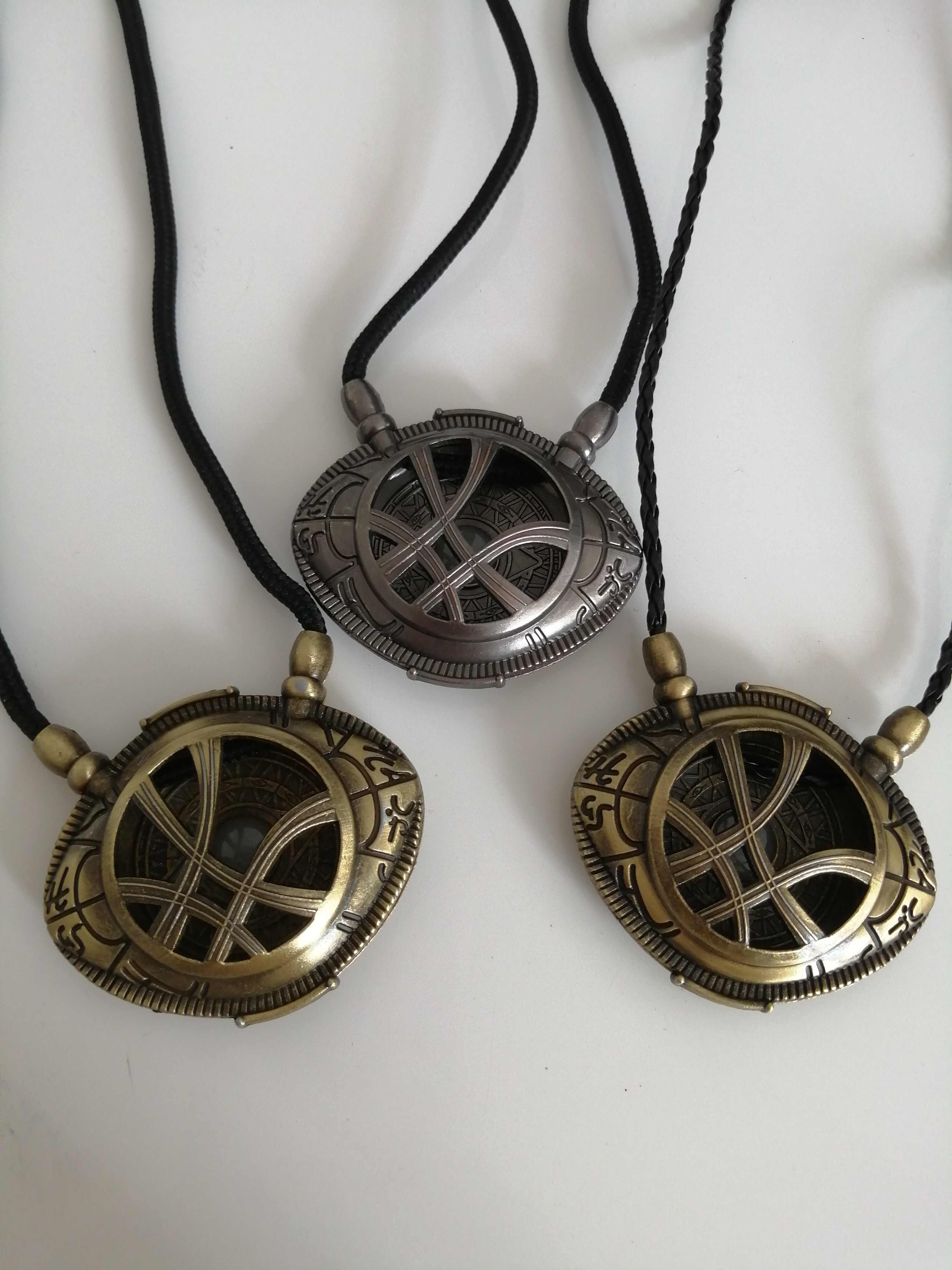 Film Doctor Strange Cosplay anneau du temps et de l'espace accessoires oeil de bague colliers cadeau de noël collier en alliage cadeau
