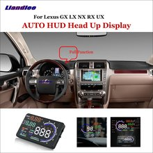 Liandlee Car HUD Head Up Display For Lexus GX470 RX300 RX330 LX NX UX Safe Driving Screen OBD Speedometer Projector Windshield liandlee car hud head up display for lexus gx470 rx300 rx330 lx nx ux safe driving screen obd speedometer projector windshield