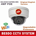 4MP IP POE Outdoor dome camera wifi wi-fi wireless cam DS-2CD2142FWD-IWS replace DS-2CD3132F-IWS DS-2CD2132F-IWS ds-2cd2132f-is