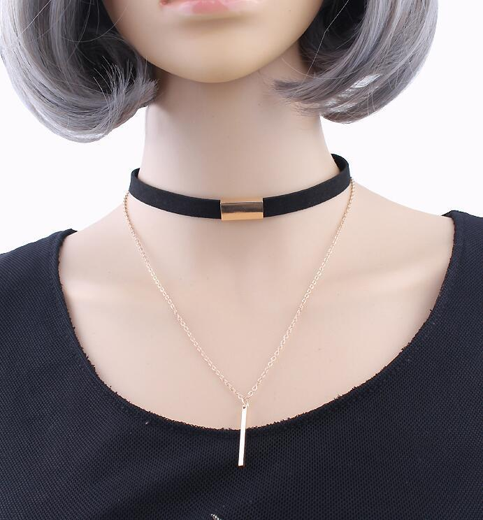 Samyeung Tassel Velvet Choker Necklaces For Women Gold Link Chain Chunky Statement Necklaces Collares Neckless Collier Femme