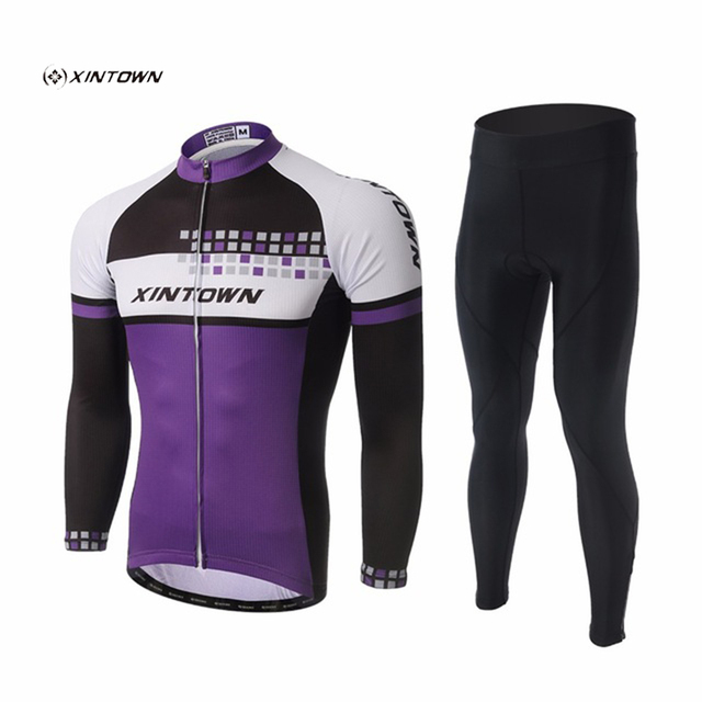 XINTOWN Maillot Movistar Long Sleeve Cycling Clothing Bicycle Jersey Set  MTB Wear Quick Dry Ropa Ciclismo Hombre Sunweb Suit Set 57b9de783