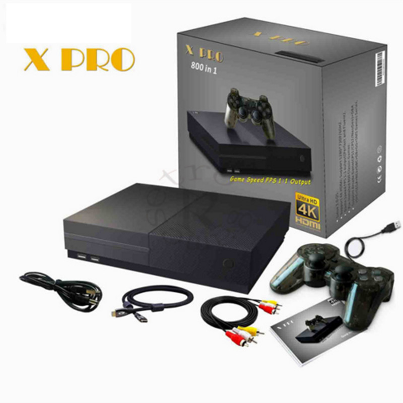 RSJPGPY X Pro 2018 Video Game Console 64 Bit Support 4K Output Retro 800 Classic Family Video Games Retro Game Console To TV hd video game console 64 bit support 4k hdmi output retro bulit in 800 classic family video games retro game console tv