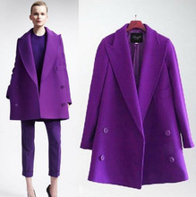 XL-5XL 2016 winter fashion women slim fit double-breasted trench coat/Women pure color long loose and comfortable jacket coat