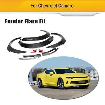 Arco Da Roda De Fibra De Carbono carro Lateral Capa para Chevrolet Camaro 2016-2019 Mudguards Fender Flares guarnições Acessórios Do Carro