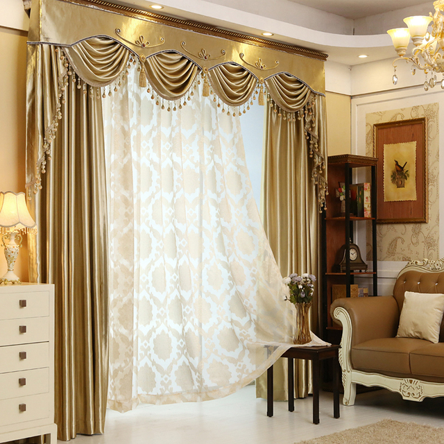Solid color fashion luxury curtain flannelet head curtain ...