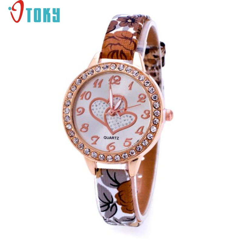 Excellent Quality OTOKY New Brand Watch Women Casual Faux Leather Analog Quartz Watch Fashion Wristwatches 2017 Freeshipping