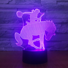 3D Horse Racing Equestrianism Show NightLight LED USB Visual Lamp Bedroom  Decor Baby Sleep Lighting 7 d46dfabc6020