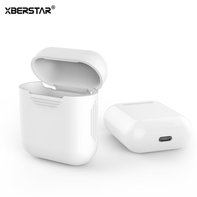 cheap for discount d0dc3 6d1ee US $1.31 34% OFF|Case Sleeve Skin Cover for Apple AirPods True Wireless  Headphone Silicone Shock Proof Protector-in Fitted Cases from Cellphones &  ...