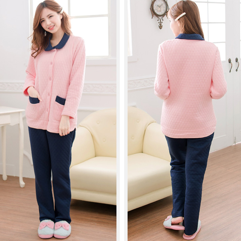 Maternity Nursing Pajamas set Long Sleeves Cotton Breastfeeding and Nursing Pajama Set