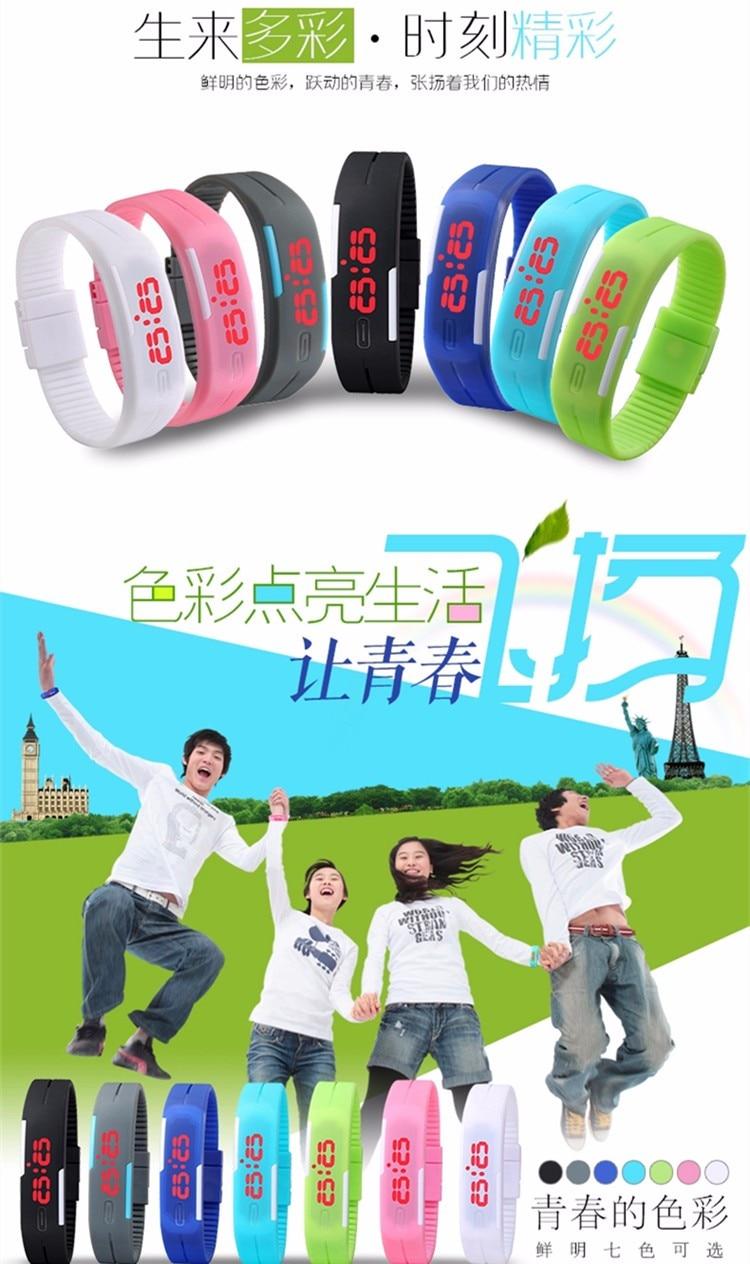 Digital Wristwatch Men Women Bracelet LED Watches Relogio Masculino Saat Sport Men Military Clock Children Electronic Watch