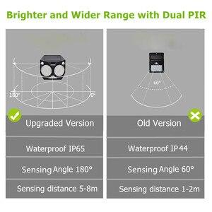 Image 3 - Ousam LED Solar Light Outdoor Motion Sensor RGB Lamp Dual PIR Waterproof Super Bright Security Solar Garden Light For Patio Yard
