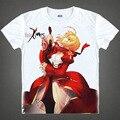 Fate stay night T-shirt kawaii Japanese Anime t-shirt Handmade Manga Shirt Cute Cartoon saber Cosplay shirt 37172409778 tee 673