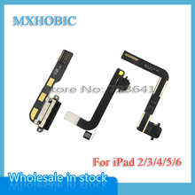 MXHOBIC 10pcs/lot Dock Connector USB Charger Charging Port Flex Cable Ribbon For iPad 2 3 4 5 air 6 air2 Replacement Part