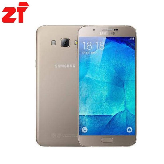 """Новый разблокирована Samsung Galaxy A8 A8000 мобильный телефон 5.7 """"Восьмиядерный 16.0mp Камера Android 5.1 2 ГБ Оперативная память 16 ГБ Встроенная память теле…"""