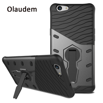 Olaudem Cases for OPPO F1S Case Silicone Shockproof for OPPO A37 Case 360 Degrees Rotation Kickstand A33 A59 R9 F1 Plus MC432 360 degrees