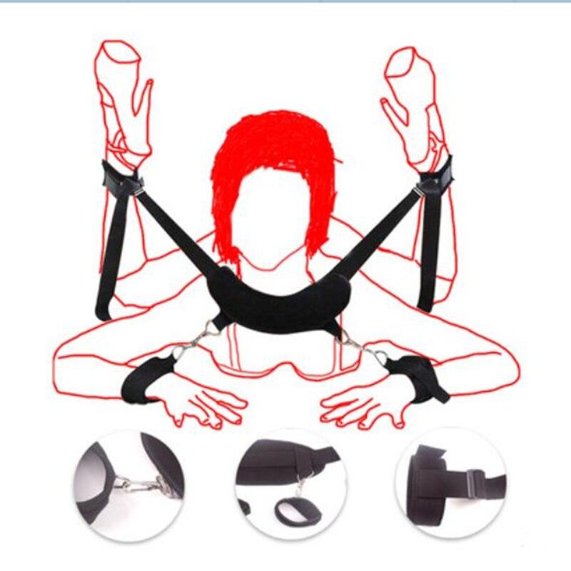 Porno Sex Handschellen Bdsm Bondage Set Erotische Kostüme Sex Spielzeug Für Frauen Restraint System Spiele Für Erwachsene Sexy Dessous Set Bekleidung Zubehör