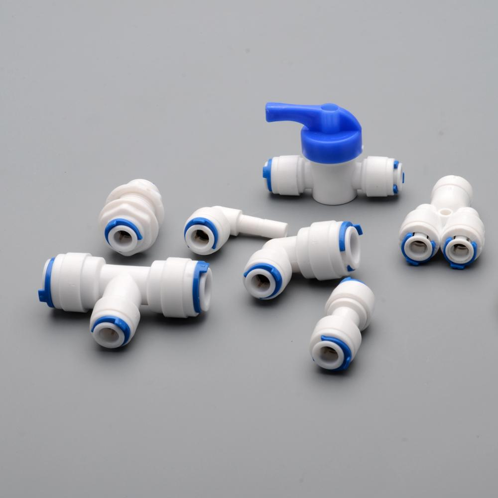 1/4 OD PE TUBE to tube Quick Connector Family drinking water RO filter reverse osmosis system 3