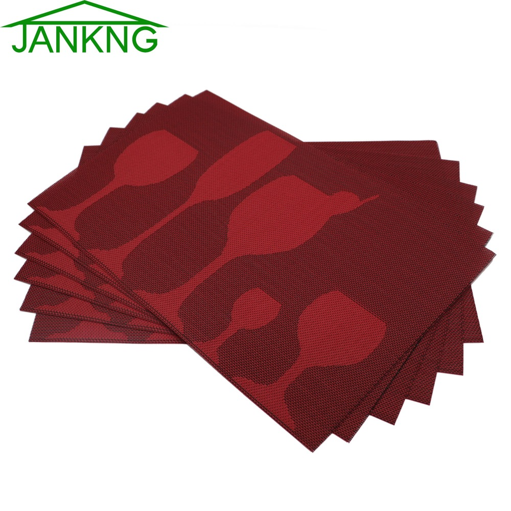 Lot Pvc Placemats Woven Vinyl Place Mats Novelty Glass Cup  Coasters For Dinner Table Pad Heatresistant Placemats