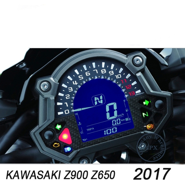 Free Shipping Motorcycle Instrument Speedometer Screen Cluster Scratch Protection Sticker For Kawasaki Z900 Z650 2017