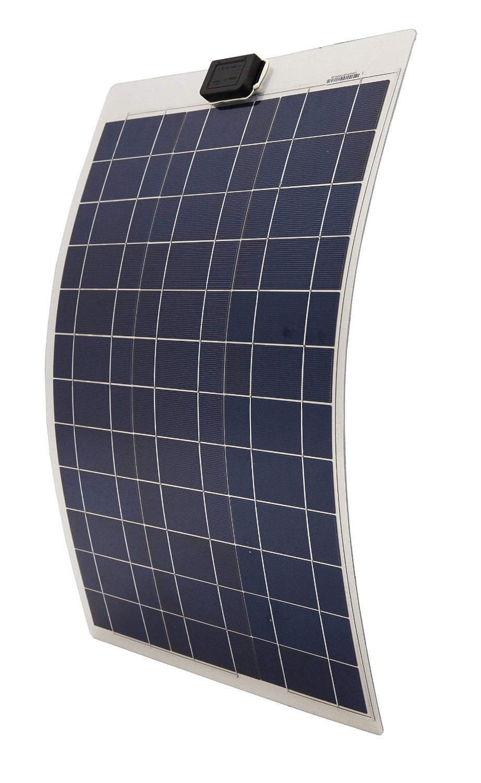 DE stock,50W poly semi-flexible solar panel, 50 watt flexible solar panel for yacht boat RV