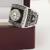 Who Can Beat Our Rings, High Quality  Super Bowl  1976  Oakland Raiders  Replica Men World Championship Ring with Wooden Boxes
