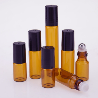 20pcs/lot 3ML 5ML 10ML Glass Roll On Bottle For Essential Oils,refillable Perfume Containers With Stainless Steel Roller BalL