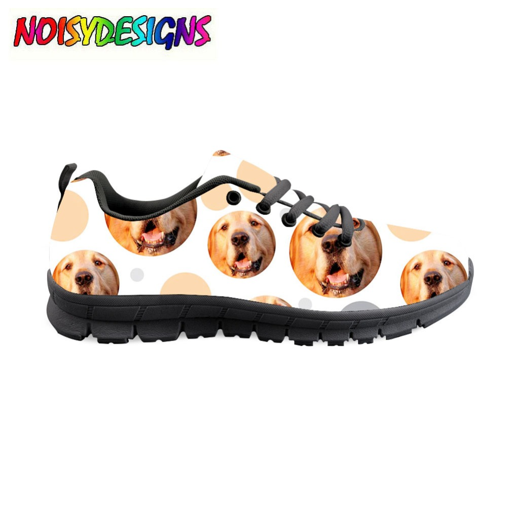 2018 Autumn Women Casual Lace-up Shoes Fashion Animals Bull Terrier Dog Style Breathable Female Light Flats Leisure Ladies Shoe