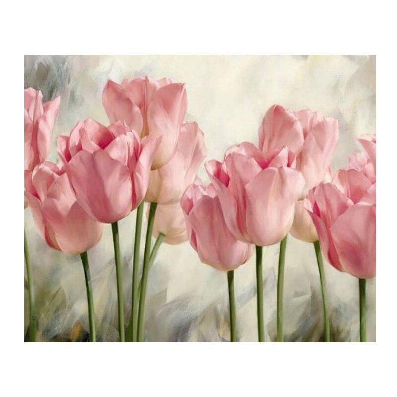 """100% Plné 5D Diy Daimond malba """"růžové květy"""" 3D diamantové malování kulatý Rhinestones diamant malování výšivky domácí dekorace"""