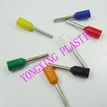 100 шт./лот E6012 обжимной cooper наконечники комплект обжимной разъем для проводов изолированный провод контактный конец терминала, 8 цветов
