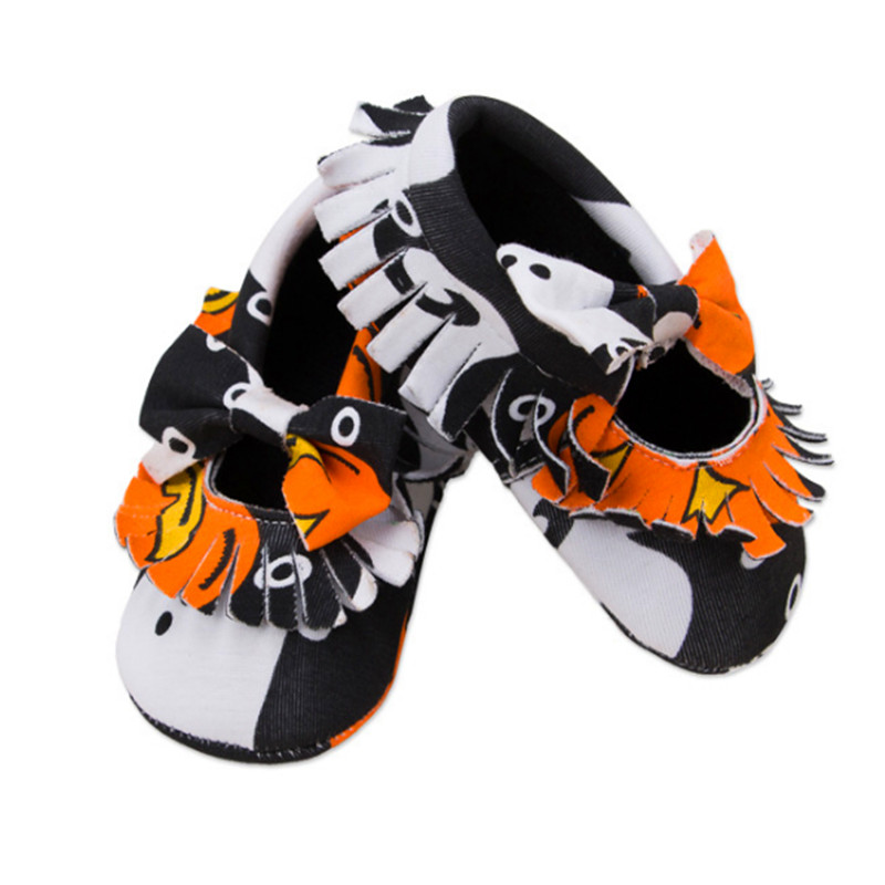 2018 Yew 0-2 Years Old Baby Toddler Shoes Girls Halloween Bow Newborn Shoes Baby Shoes