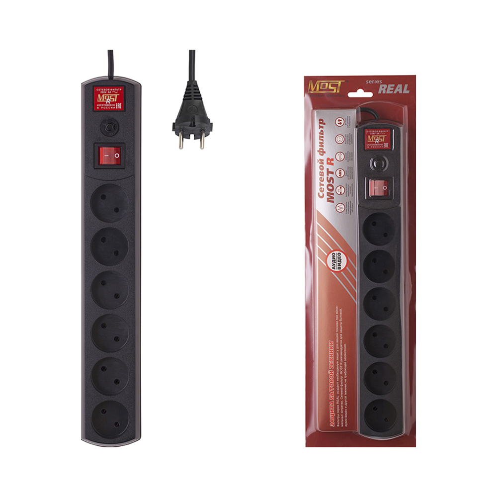 Mains filter Most R 2 m black Consumer Electronics Accessories & Parts Electrical Socket & Plugs Adaptors main filter most mrg black consumer electronics accessories