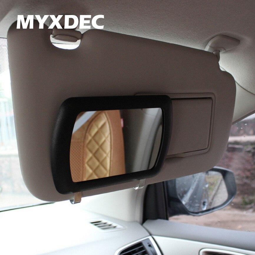 Sun visor mirror Large Car Makeup Sun-shading Mirror car Cosmetic Mirror Vanity Mirror Auto Supplies Freeshipping