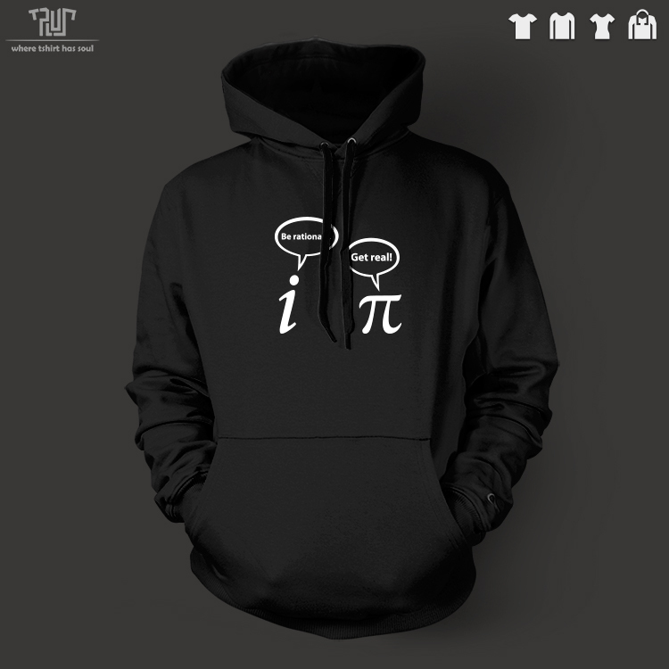 Free Shipping be rational be real Geek pullover font b hoodie b font hooded sweatershirt 360gsm